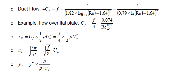 Y+ and 1st Layer Height Calculator